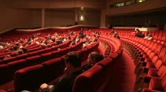 Auditorium in a theatre Stock Footage