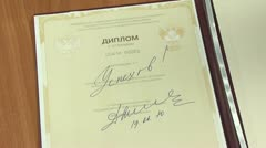 Autograph Dmitry Medvedev Stock Footage