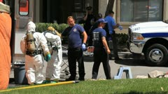 Hazmat Incident Suspicious Death 3 - stock footage