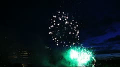 Canada Day Fireworks in Calgary Stock Footage