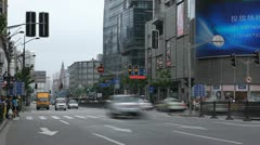 Time Lapse of Nanjing Road in Shanghai, China, Henan, Pedestrian Shopping Stock Footage