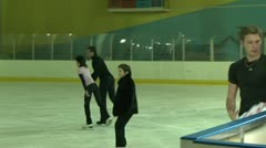 Pair figure skating. Training. Stock Footage