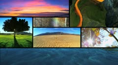 Montage of Earths ever changing environmental ecosystems  Stock Footage