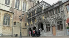 The Holy Blood Chapel in Bruges, Belgium Stock Footage
