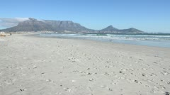 Table Mountain from Milnerton - Clear Day Stock Footage