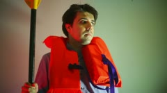 Life jacket water safety concept Stock Footage