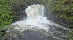 The Falls of Falloch in Scotland - stock footage