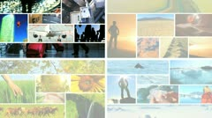Montage of Lifestyles and Environmental Locations  Stock Footage