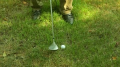Golf ball golfing sport Stock Footage