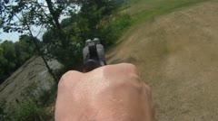 Cocking Gun Stock Footage