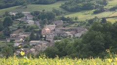 Stock Video Footage of The village of Chasselas amongst the vineyards of Burgundy