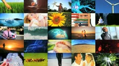 Montage of Human and Environmental Ecosystems  Stock Footage