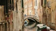 Small bridge over canal - Venice, Venezia Stock Footage