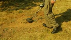 Metal detector hunting hunt Stock Footage