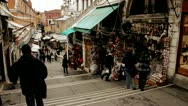 Stock Video Footage of Shops on Rialto Bridge - Venice, Venezia