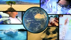Montage Scientific Research Global Warming - stock footage