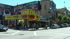 San Francisco Street Corner, steel drums in audio Stock Footage