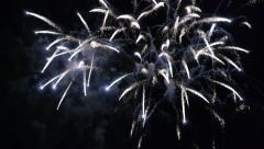 Fireworks slow motion 30P - stock footage