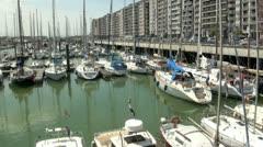 Blankenberge Marina, Belgium Stock Footage