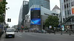 Nanjing Road in Shanghai, China, Henan, Pedestrian Shopping Street Stock Footage