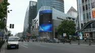 Nanjing Road in Shanghai, China, Henan, Pedestrian Shopping Street Stock Footage