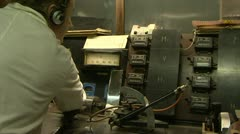 An old control panel - stock footage