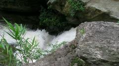 Water between the Rocks Stock Footage