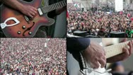 Crowd at concert Stock Footage