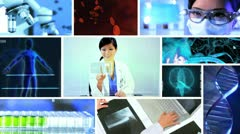 Montage Doctor Chromakey Technology Research Stock Footage