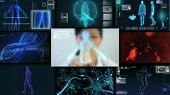 Montage Virtual Scientific Research Stock Footage