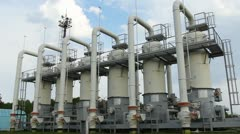 Compressor Station With Turbine Panorama Right Left - stock footage