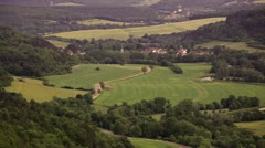 Burgundy countryside near to La Bussiere sur Ouche - stock footage
