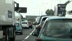 Traffic Congestion M25 Time Lapse Stock Footage