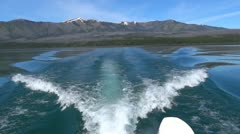 Boat Wake on Lake - stock footage