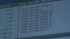 Numerical matrix Stock Footage