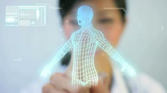 Montage Images 3D Virtual Medical Research - stock footage