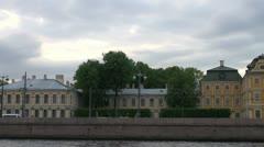 Menshikov Palace in St. Petersburg Stock Footage