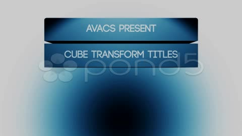 After Effects Project - Pond5 Cube transform titles 11299870