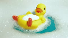 Rubber Duck and Soap Stock Footage