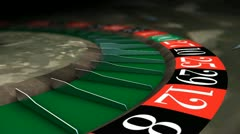 Roulette wheel close-up, casino, gambling, game, bet. Stock Footage