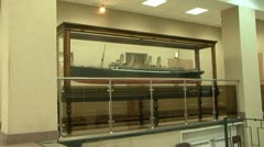 Model of a sea liner Stock Footage
