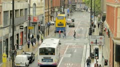 Church Street Time-Lapse, Manchester Stock Footage