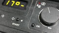 Digital screen on control panel Stock Footage