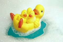 Bathroom Rubber Duckling Stock Footage