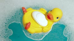 Rubber Duck and Baby Soap Stock Footage