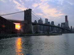 Brooklyn Bridge Time-lapse Stock Footage
