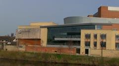 Theatre Severn, Shrewsbury, Shropshire, England Stock Footage