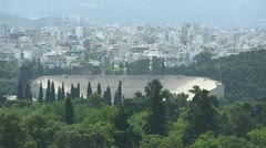 Ancient Olympic stadium in Athens Greece  Stock Footage