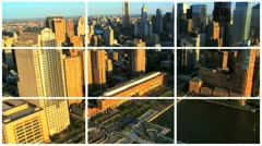 Montage view of New York City and the Financial District Stock Footage