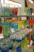 Ryukyu glasses, famous drinking glasses in Okinawa, Japan Stock Photos